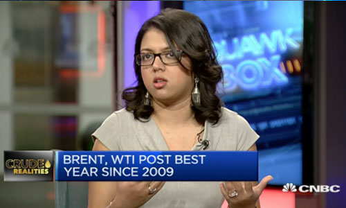 Amrita Sen appears on CNBC to discuss the price of oil in 2017